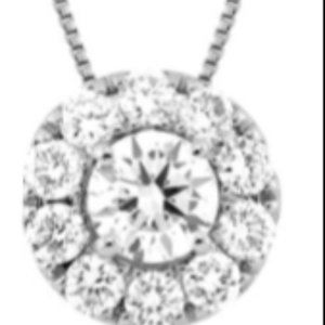LAB GROWN 1ct DIAMOND SET I N WHITE GOLD NECKLACE